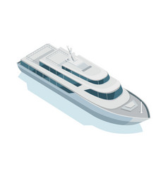 yacht icon in isometric projection vector image