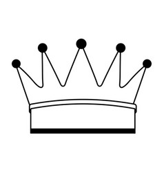 crown king isolated icon vector image