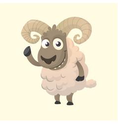 cute cartoon sheep mascot vector image