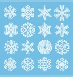 flat design christmas snowflakes vector image vector image