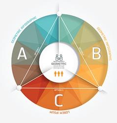 Geometric Modern Design Minimal style infographic vector image