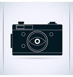 Retro photo camera vector image vector image