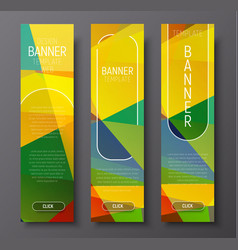 set of vertical web banners with abstract vector image vector image