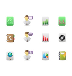 square office icons set vector image vector image