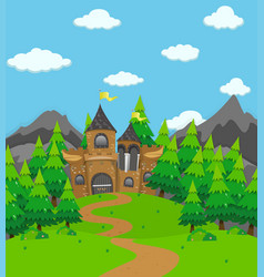 background scene with palace towers vector image