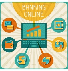 Banking online infographic vector image vector image