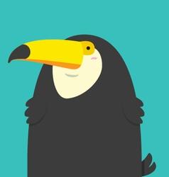 cute big fat Toucan bird vector image vector image