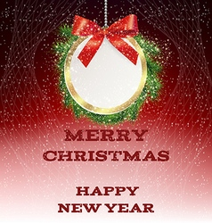 greeting new year card vector image vector image