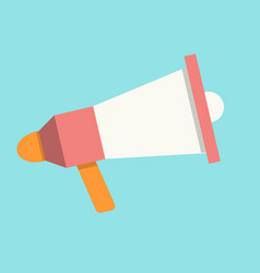 megaphone in flat style vector image