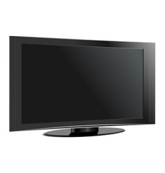 tv flat screen lcd plasma realistic vector image vector image