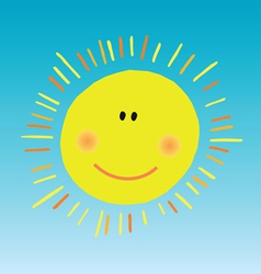 abstract smiling sun vector image
