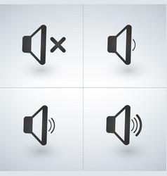audio speaker volume or music speaker volume icons vector image vector image