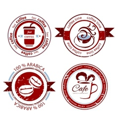 coffee stamps vector image vector image