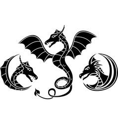 dragon set vector image vector image