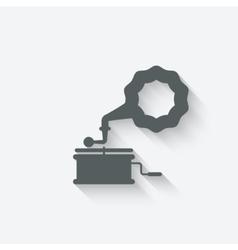 gramophone music design element vector image