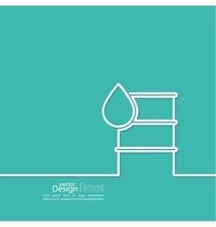 Icon petroleum barrels vector image vector image