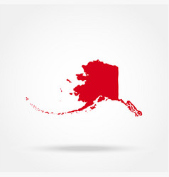 map of the us state of alaska vector image