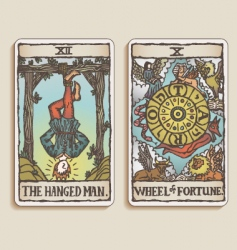 tarot cards vector image vector image