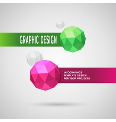Abstract infographic design with color spheres vector image vector image
