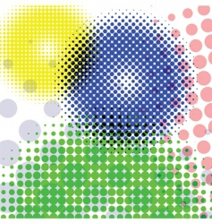 halftone round pattern vector image
