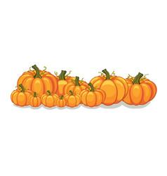 halloween pumpkins horizontal banner vector image