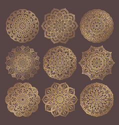 mandala design elements collection vector image