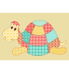 Turtle patchwork vector image vector image