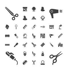 37 salon icons vector