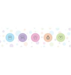 5 bear icons vector