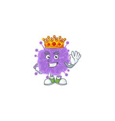 A charismatic king coronavirus influenza cartoon vector