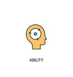 Ability concept 2 colored icon simple blue vector