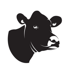 Abstract black cow head vector