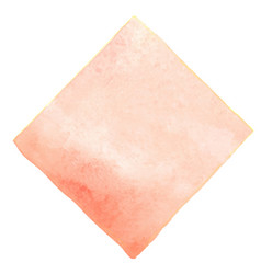 Abstract peach pink square watercolor banner vector