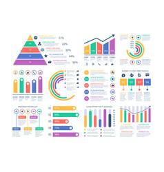 analytics infographics elements data graphic vector image
