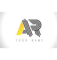 Ar black lines letter logo creative line letters vector