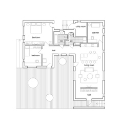 Architectural house plan vector