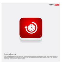 Arrow clock icon vector