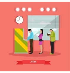 Atm people standing in vector