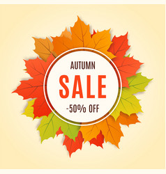 autumn sale promotion banner poster card vector image