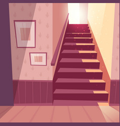 Background of staircase stairs in house vector