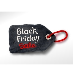 Black Friday plasticine tag banner vector