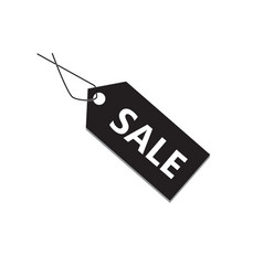 black sale tag on white background black sale tag vector image