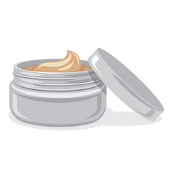 Body and face care cream jar vector