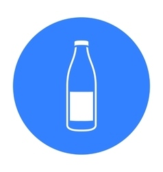 Bottle milk icon black Single bio eco organic vector