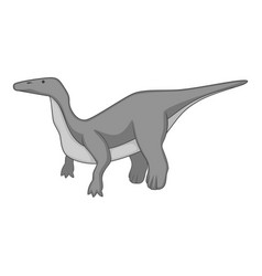 Brontosaurus icon monochrome vector
