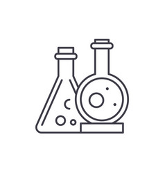 chemical laboratory line icon concept chemical vector image
