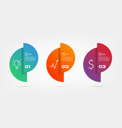 circle gradient infographics step by step element vector image