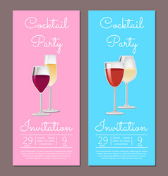 cocktail party invitation poster template info vector image