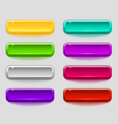 Colorful set of smooth buttons vector