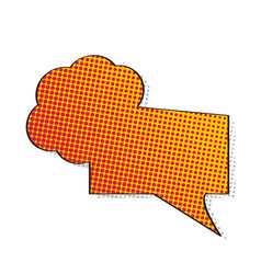 comic bubble chat with halftone pattern vector image